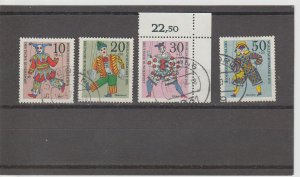 Germany  Scott#  B463-B466  Used  (1970 Puppets)