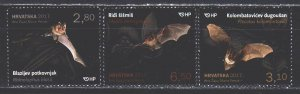 Croatia. 2017. 1272-74. Bats, fauna. MNH.