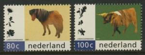 Netherlands 956-7 MNH Animals, Pony, Sheep