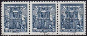 Austria - 1958 - Scott #625 - used strip of 3 - Christkindl