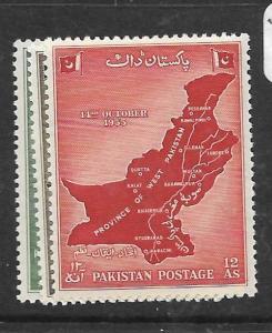 PAKISTAN (P2702B) MAP  SG 79-81  MNH