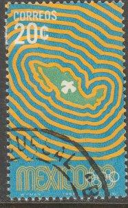 MEXICO 996, 20¢ 1968 Olympics, Mexico City. Used. VF. (78)