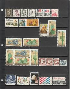 100 DIFFERENT US MNH 20 CENT STAMPS FROM 1289/C75 2019 SCV $46.90
