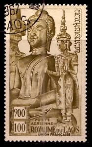 LAOS Scott C12 Used CTO Buddah statue Airmail stamp