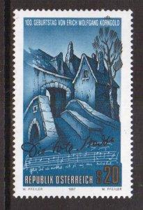 Austria    #1719   MNH  1997   Wolfgang   composer