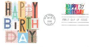 #3695 Happy Birthday Fleetwood FDC