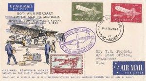 AFC218) AUSTRALIA 1964 1ST FLT.CVR.- MELBOURNE-SYDNEY-AAMC 1522