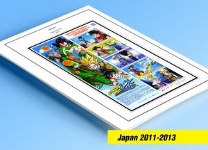 COLOR PRINTED JAPAN 2011-2013 STAMP ALBUM PAGES (89 illustrated pages)