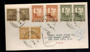 1942 Goa Portuguese India Censored Cover to New York USA Stamp Dealer