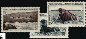 FSAT Antarctic Elephant Seals issue (SC #5-7) VF MH Cat $32.50...Popular!