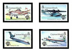 Cayman Is 514-17 MNH 1983 Airplanes