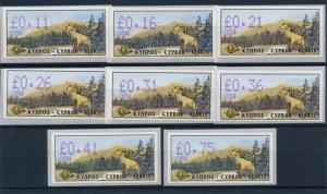 [51623] Cyprus 1999 ATM stamp Moufflon Serial number 004 MNH