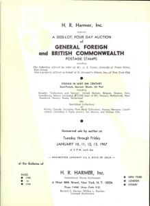 HR Harmer: Sale # 1740-1743  -  General Foreign and Briti...