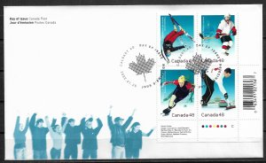 2002 Canada 1936-9 Winter Olympics PB4 First Day Cover