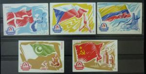 Match Box Labels ! flags denmark czechoslovakia colombia pakistan sssr GN2