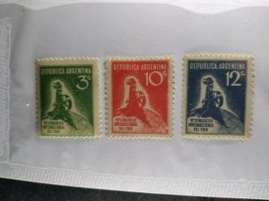 Argentina #406-8 mint hinged e21.4 13157
