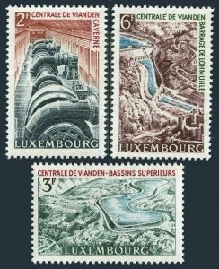 Luxembourg 407-409 two sets,MNH. Mi 693-695. Vianden Hydroelectric Station, 1964