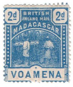(I.B) Madagascar Postal : British Inland Mail 2d (Voamena)