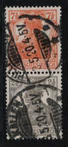 Germany Scott # 99, 98, used, se-tenant, Mi# S13a