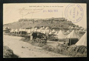 1911 Taourirt Morocco Le Camp Du Train Des Equipages Real Picture Postcard Cover