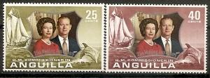 Anguilla 161-62 MNH 1972 Silver Wedding