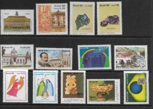 BRAZIL      2161-2216 MNH ISSUES OF 1989