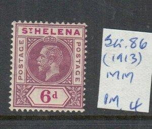 ST HELENA 1913 6D DULL/DEEP PURPLE MINT SG86