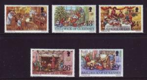 Guernsey Sc 250-4 1982 Christmas stamps mint NH