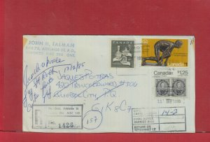Registered Notice Card # Olympics Capex Canada cover Adelaide st. Canada