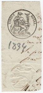 (I.B) France Revenue : Impressed Duty 35c (Timbre Royal)