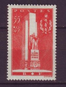 J24639 JLstamps 1938 france set of 1 mh #b73 military monument