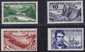 SWITZERLAND #B57-B60 CV $14.00 item #A35