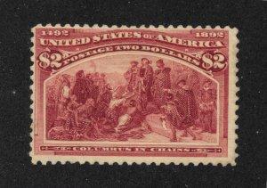 242 Unused, $2 Columbian, scv: $1,050  Free Insured Shipping