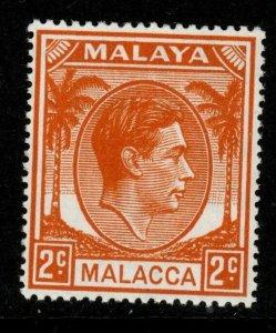 MALAYA MALACCA SG4 1949 2c ORANGE MTD MINT