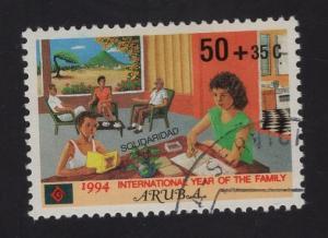 Aruba   #B35  1994   used  solidarity  year of the family 50c + 35c