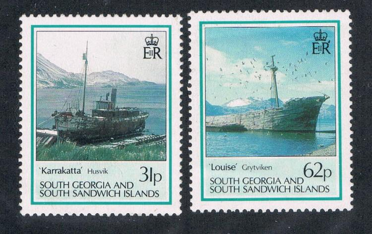 South Georgia 147-148 Ships MNH (S0087)