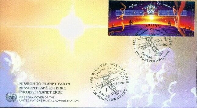 UN Vienna FDC #134a Mission Planet Earth (3826)