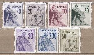 LATVIA 1992 Riga Liberty Monument MNH(**) Mi 326-334 #HS30