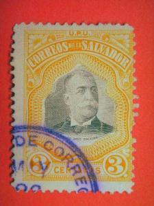 EL SALVADOR, 1906, used 3c. President Pedro Jose Escalon