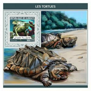 Djibouti - 2018 Turtles on Stamps - Stamp Souvenir Sheet - DJB18208b