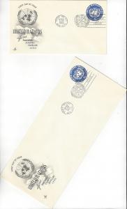 United Nations U2 & 2a, Postal Stationery,  ArtCraft FDC