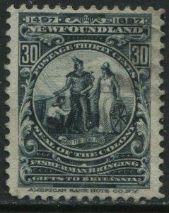 Newfoundland 1897 Cabot 30 cents lightly used