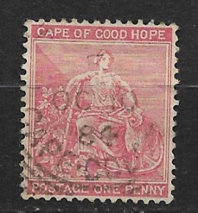 1882 Cape of Good Hope 34 Hope and Symbols of Colony 1p used