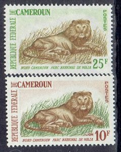 Cameroun, Scott #396-397; Lion Issues, MLH