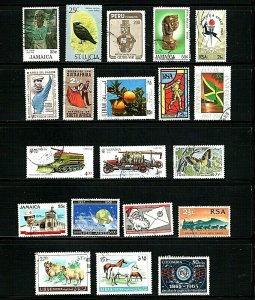 20 Different Used 7 Countries SCV 8.35