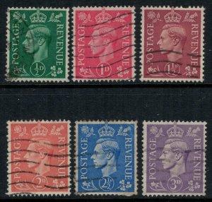 Great Britain #258-63  CV $3.35
