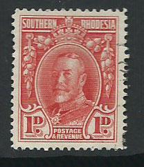 Southern Rhodesia SG 16a  VFU perf 14