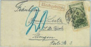 85228  - GERMANY SAAR - POSTAL HISTORY - COVER from ILLINGEN , TAXED!  1932