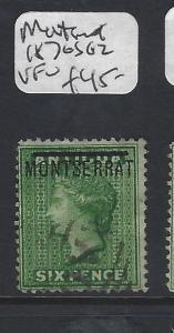 MONTSERRAT  (P2912B)  QV 6D  SG 2   VFU  COPY 1