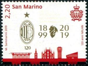 HERRICKSTAMP NEW ISSUES SAN MARINO Milan Soccer Club